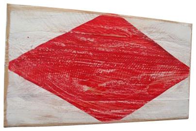 Nautical Wood Signal Flag Large - Foxtrot beach-style-home-decor