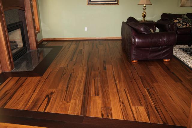 African Celtis Natural Medium & Wenge Prefinished hardwood-flooring