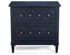 Hand-painted Honeycomb Chest - Grandin Road traditional dressers chests and bedroom armoires