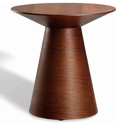 Anika Side Table, Tan Walnut contemporary-side-tables-and-end-tables