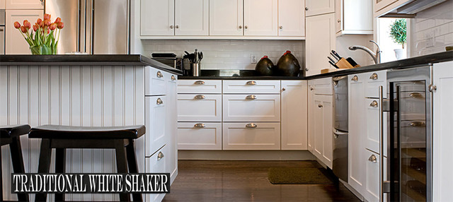White Shaker Kitchen Cabinets - Modern - Kitchen Cabinetry - other metro - by RTA Cabinet Store