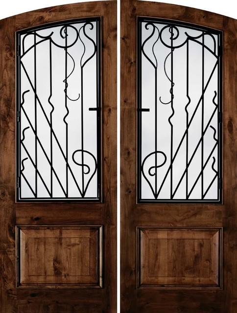 Jeld wen a1260 nouveau arch top knotty alder woodgrain for Jeld wen exterior fiberglass doors