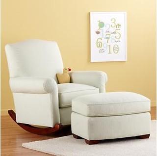 Nursery Rocker and Ottoman - Traditional - Nursing Chairs & Gliders ...