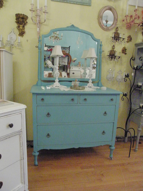 antique dresser aqua turquoise blue shabby chic distressed beach