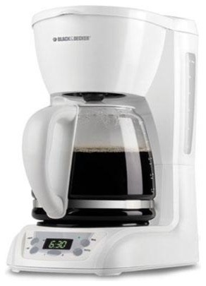 B&D DLX1050W WHITE COFFEEMAKER 12 CUP PROGRAMMABLE GLASS modern-coffee-makers-and-tea-kettles