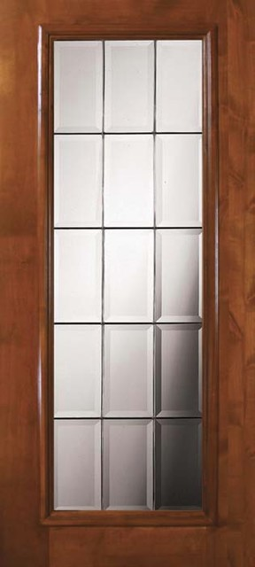 Slab french exterior single door 80 wood alder french full for Single exterior patio door