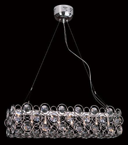 Eight-Light Pendant -Polished Chrome modern-pendant-lighting