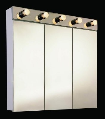Ketcham 36W x 34H-in. Tri-View Surface Mount Medicine Cabinet with Light modern-medicine-cabinets