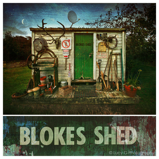 'Blokes Shed' by Lucy G Photography eclectic-artwork