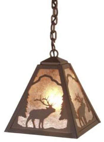 Pendant timber ridge elk rustic pendant lighting for Houzz rustic lighting
