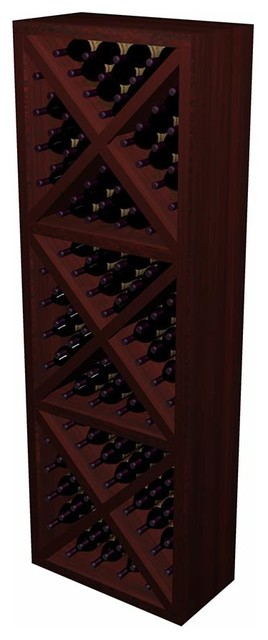 Solid Diamond Cube Designer Series in Allheart Redwood, Classic Mahogany contemporary-wine-racks