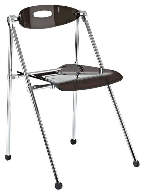 Telescope Folding Chair in Smoke Modern Folding Chairs And Stools by zo