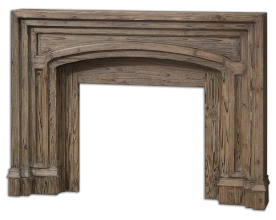 Uttermost - Avrigo Fireplace Mantel - An elegant mantel will completely transform your fireplace from ho-hum to heavenly. Beautifully carved layers of solid fir have been combined to create the ultimate design statement. Add this to your living room and it will surely be the beloved gathering space in your home.