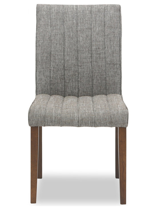 Bryght - Strip Coral Fabric Upholstered Dining Chair - The strip dining chair, with its sophisticated and contemporary style, offers long lasting comfort. This dining chair's unique display of individual parallel grooves sewn into its upholstery lends it a chic and luxurious feel