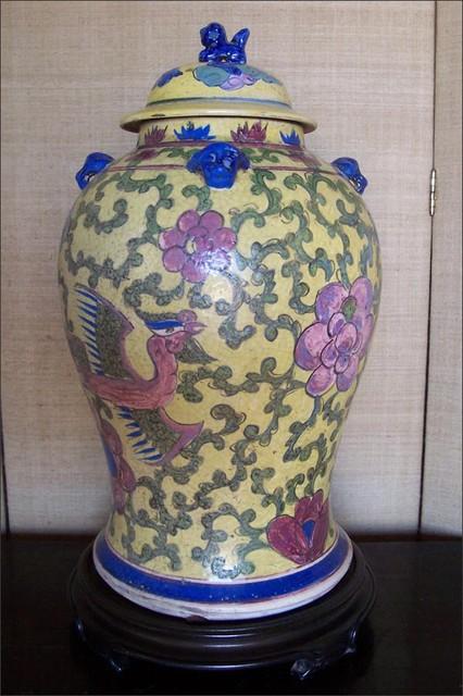 Antique Ginger Jar or Lamp asian-vases