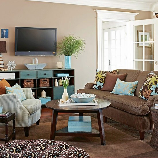 Tan And Turquoise Living Room.jpg