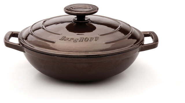 """Berghoff Neo Cast Iron covered Wok 10"""" modern-specialty-cookware"""