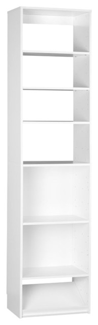 SystemBuild 7 Shelf Storage Unit in White Aquaseal transitional-storage-cabinets