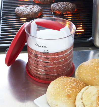 Hamburger Press and Store contemporary-grill-tools-and-accessories