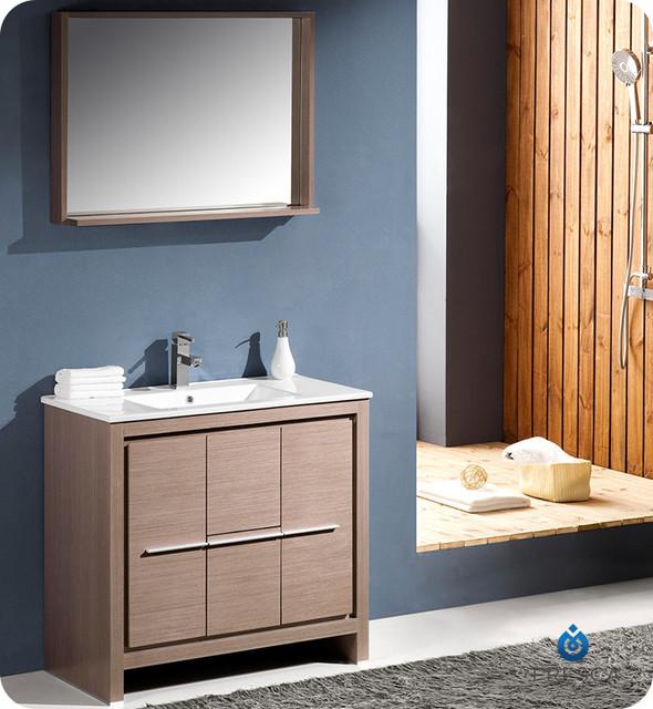 """35.5"""" Allier Modern Bathroom Vanity - Wenge (FVN8136WG) modern"""