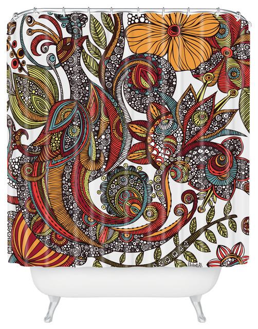 Valentina Ramos Paradise Bird Shower Curtain eclectic-shower-curtains