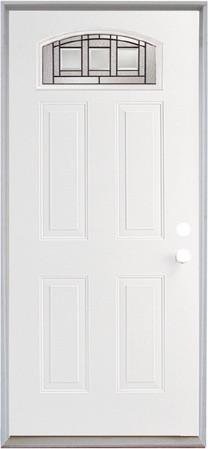 """ReliaBilt 36""""W Fan-Lite Left Hand Steel Door Unit front-doors"""