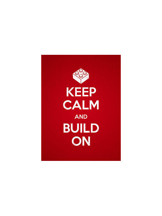 """""""Keep Calm and Build On"""" Photographic Print -"""