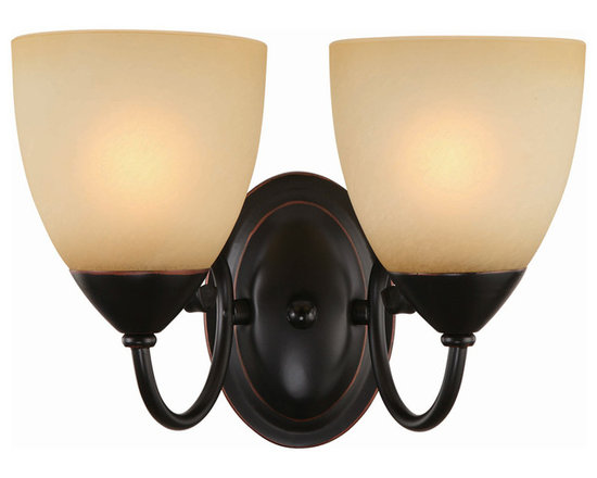 Hardware House - Oil Rubbed Bronze 2 Light Wall Sconce / Bathroom Fixture - Finish: Oil Rubbed Bronze