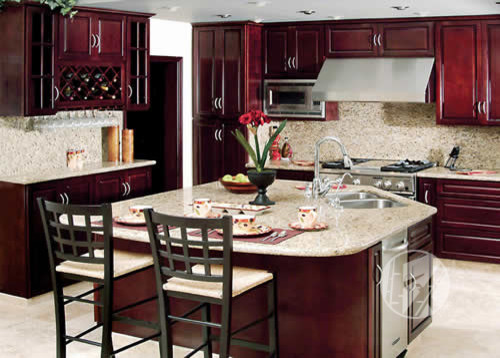 FX Cabinets Warehouse Mahogany Bay - Traditional - Kitchen Cabinetry - los angeles - by FX ...