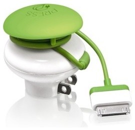 Mushroom GreenZero Wall Travel Charger contemporary cable management