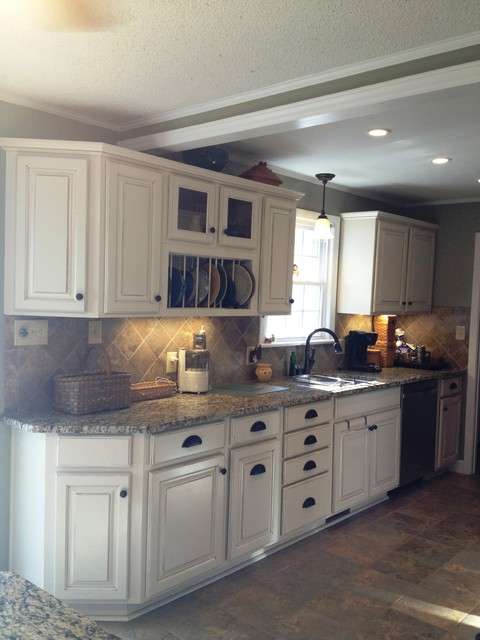 Shenandoah grove maple traditional kitchen charlotte by lowe s