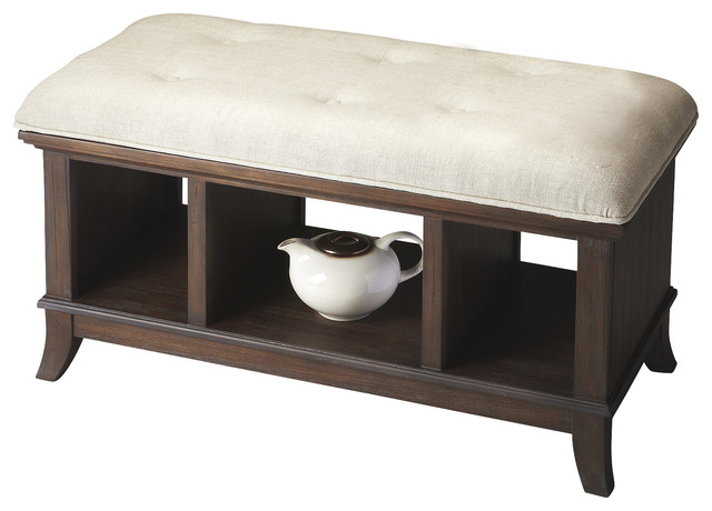 cocoa storage bench transitional bedroom benches by