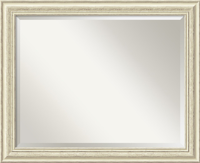 Country Whitewash Wall Mirror, Large traditional-wall-mirrors