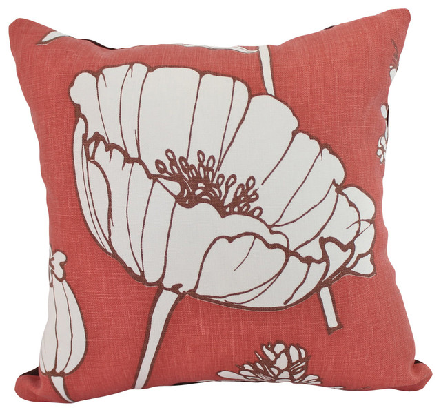 Faded Brick Red Poppyfield Kravet Linen Pillow Cover - Contemporary - Decorative Pillows - by ...