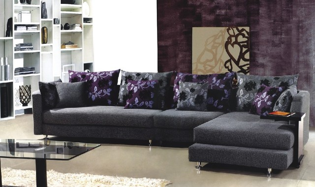 Costanza Microfiber Sectional Set modern sectional sofas los angeles