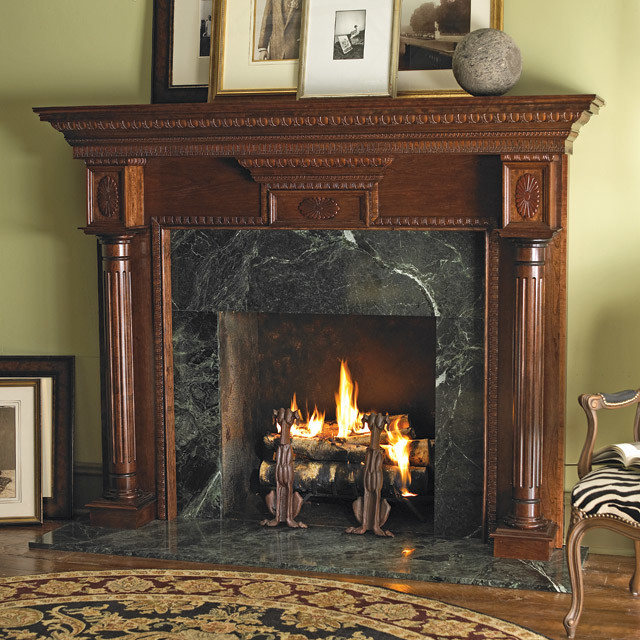 Heritage Wood Fireplace Mantel Traditional Indoor Fireplaces Other Metro By