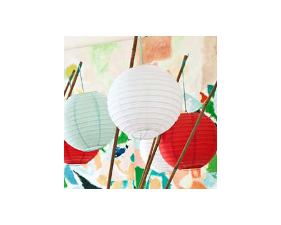 White 6-inch Small No Frills Paper Lanterns -