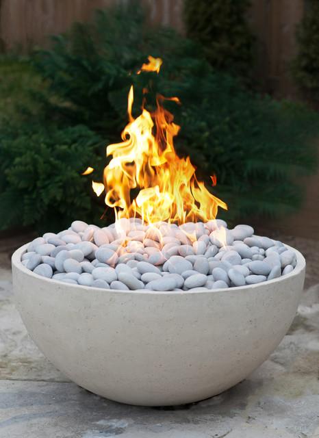 Serenade Concrete Firepit by DEKKO Concrete contemporary-fire-pits