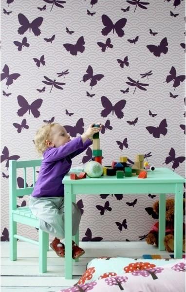 Butterflies Wallpaper contemporary-wallpaper