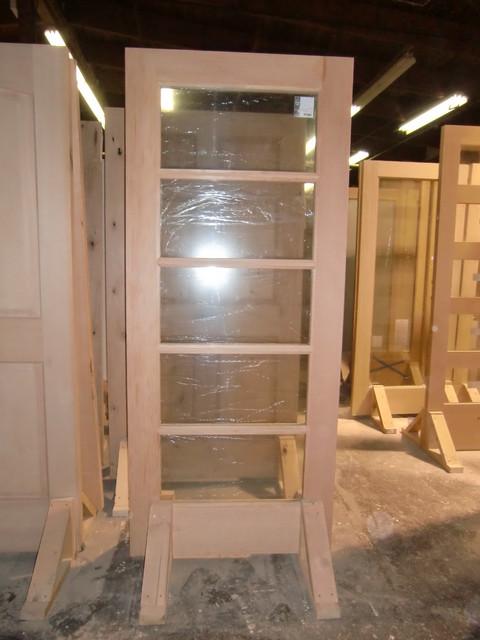 Narrow Lite Door : Vg fir lite horizontal narrow tdl modern front doors