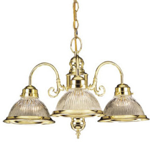 Millbridge 3-Light Chandelier, Polished Brass modern-chandeliers