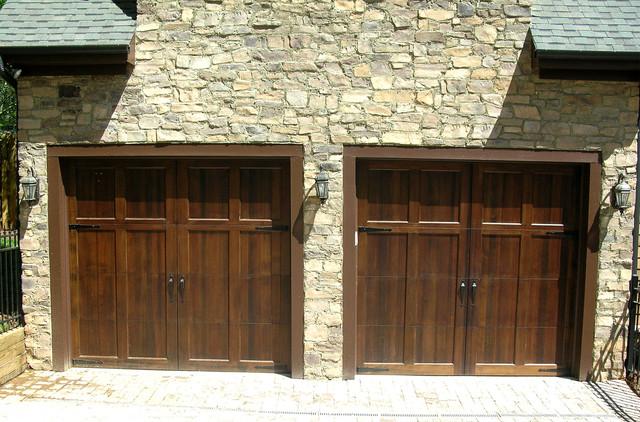 Wood Stained Garage Doors Modern Garage Doors And