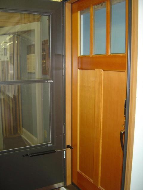 Showroom displays front-doors