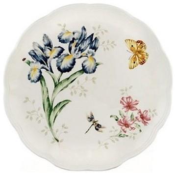 Lenox Butterfly Meadow Orange Sulphur Dinner Plate - Set of 4 modern-plates
