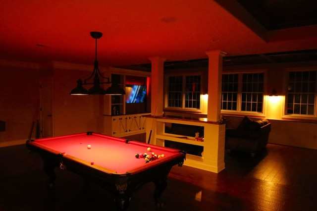 Finished basement rustic basement philadelphia by for Rustic finished basement