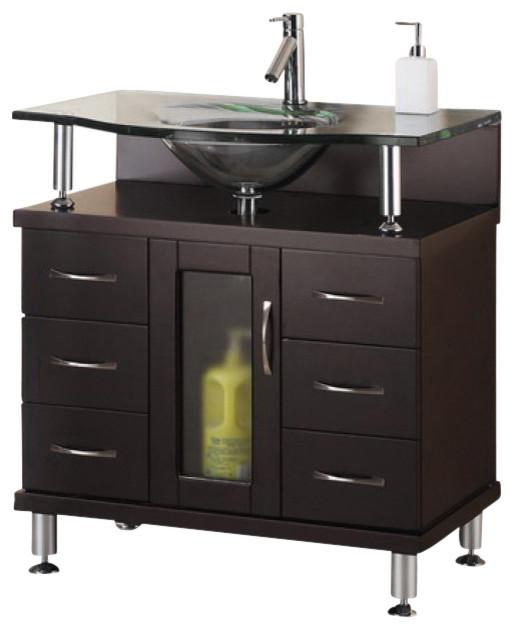 32 Inch Modern Single Sink Bathroom Vanity - Modern ...