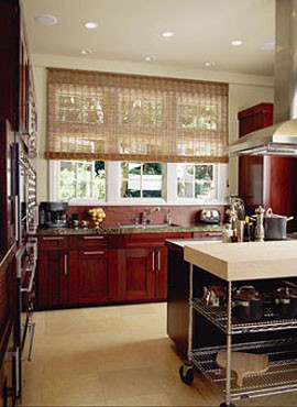 Charleston grass shades in kitchen window-treatments