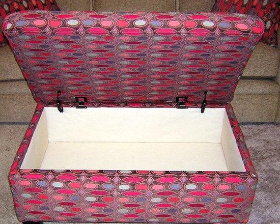 Customer Custom Orders - Rowe Hess Storage Ottoman at Barnett Furniture in Trussville / Birmingham, AL.  You Choose the Fabric