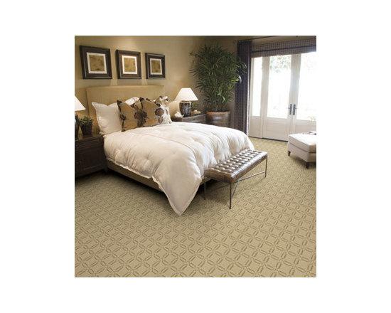 Carpet, beyond beige - Lattice patterned carpet in bedroom