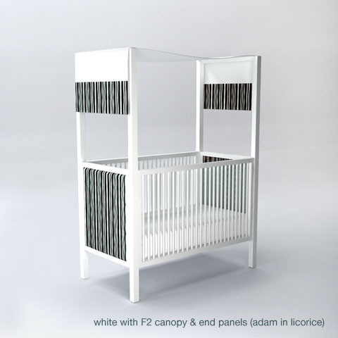 cabana canopy crib modern cribs